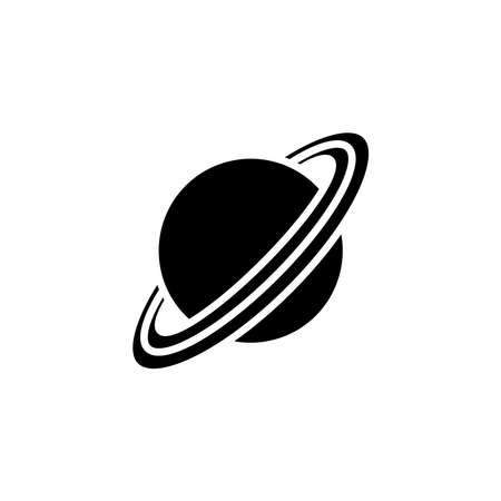 Saturn planet icon vector. Saturn planet simple sign, logo Illustration