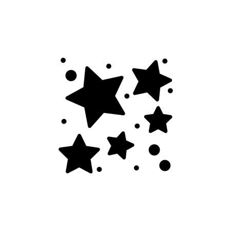 star cluster icon vector. star cluster simple sign, logo.