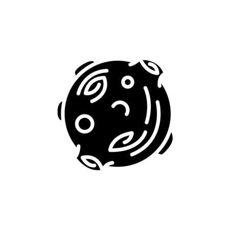 Moon astronomical body icon vector. Moon astronomical body simple sign, logo