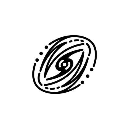 Galaxy icon vector. Galaxy simple sign, logo