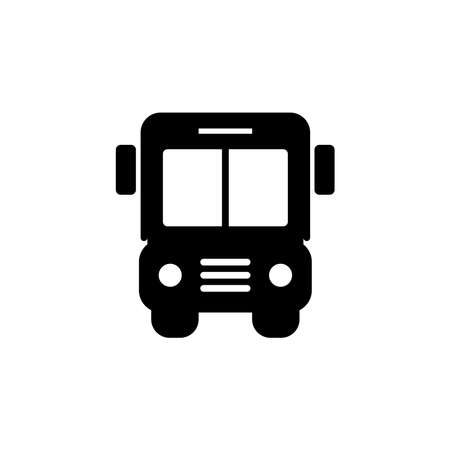 Bus icon. Simple sign, logo. Bus sign. Transport image. Public Navigation symbol for info graphics, websites and print media. style image. Editable stroke. Vector Illustration