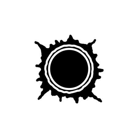 Sun, star sun, flare in sun icon vector. Sun, star sun, flare in sun simple sign, logo. Illustration