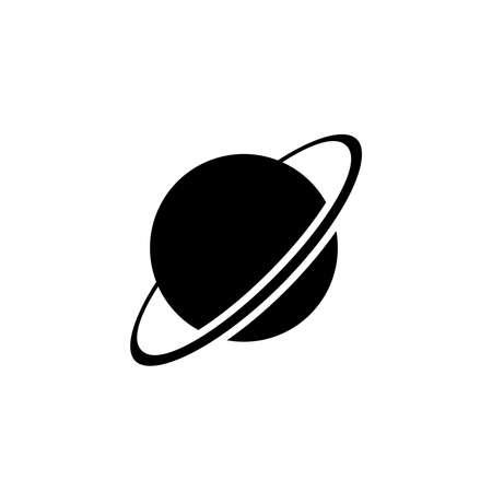 Uranus planet icon vector. Uranus planet simple sign, logo. Illustration