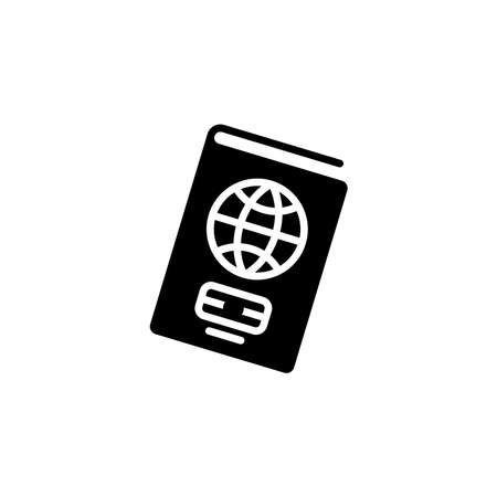 Passport icon. Simple sign, logo. Foreign passport icon. Visa, document, arrival. Customs house concept. citizenship, immigration, traveling