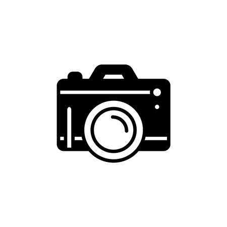 Camera Photography icon. pocket digital camera Simple sign, fotocamera logo gadget
