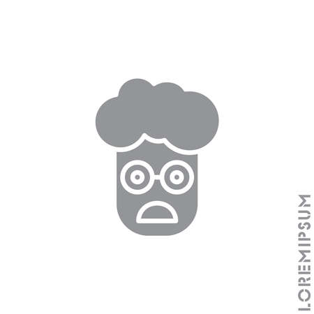 Frowning with open mouth emoji vector boy, man icon. frowning with open mouth emoji icon, vector simple element illustration from editable emoji concept isolated. gray on white background