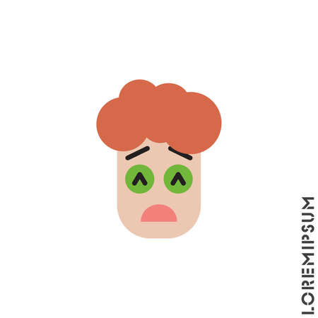 Sad Give Up Tired Emoticon boy, man Icon Vector Illustration. color Style. Very Sad Cry Stressful Emoticon Icon Vector Illustration.