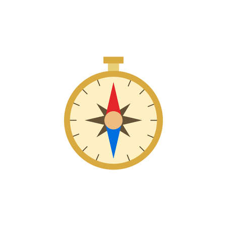 compass color icon vector. Simple sign. 向量圖像