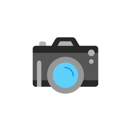 Camera Photography color icon vector. pocket digital camera Simple sign, fotocamera gadget 向量圖像