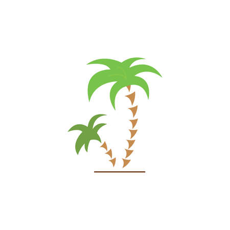 Palms tree color icon vector. palm coconut tree Simple sign.