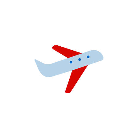 plane, airplane color icon. Simple sign.