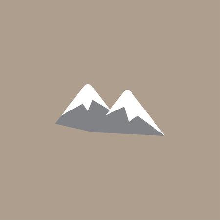 Mountain color icon vector. Simple landscape sign.