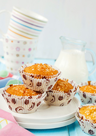 pina colada: Muffins Pina Colada with pineapple and coconut