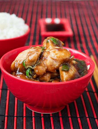 pao: Chicken Kung Pao - traditional Chinese dishes Stock Photo
