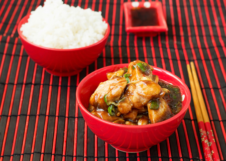 hoisin: Chicken Kung Pao - traditional Chinese dishes Stock Photo