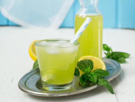 basil lemonade - a refreshing summer drink