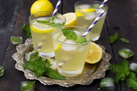 mint lemonade, refreshing summer drink