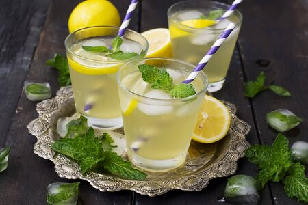 mint lemonade, refreshing summer drink
