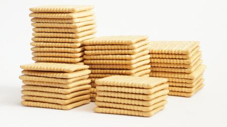 galletas integrales: Galletas aislados en blanco
