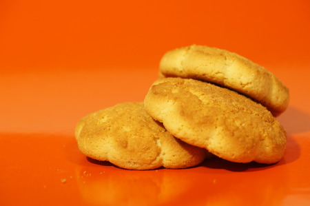 sweet corn cookies isolated on a dark background