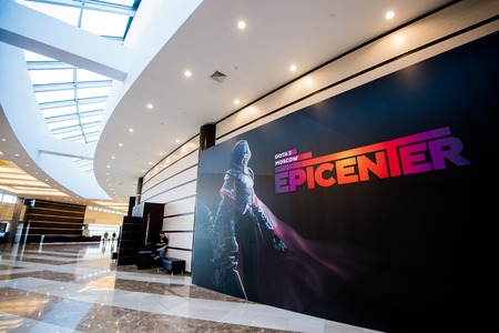 epicenter: MOSCOW, RUSSIA - MAY 13 2016: EPICENTER MOSCOW Dota 2 cybersport event.