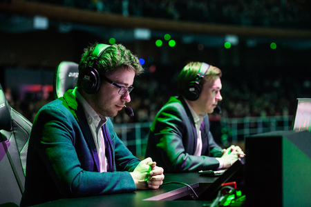 casters: EPICENTER MOSCOW Dota 2 cybersport event may 13. Russian casters place.LightOfHeaven and Maelshtorm. Editorial
