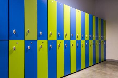 Locker, clothes locker in a gym or sports center. Stockfoto
