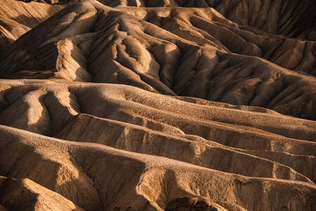 Sci-Fi Mars looking Rocky landscape background at Zabriskie Point, Death Valley NP, California. 写真素材