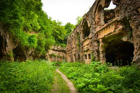 conquered: The ruins of the old military fort conquered by nature