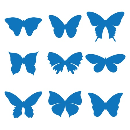 silhouette papillon: Illustration vectorielle du papillon icônes Illustration