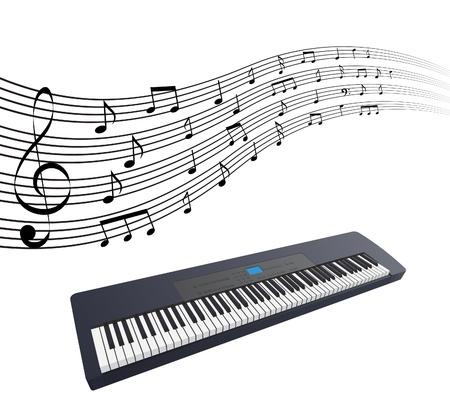 synthesizer: The vetor illustration of synthesizer. Illustration