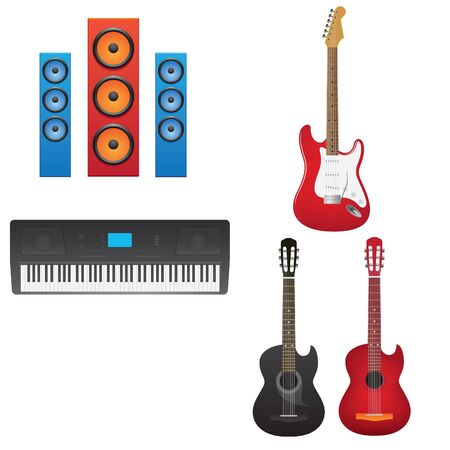 Vector illustration of musical instruments Stock Vector - 10204858