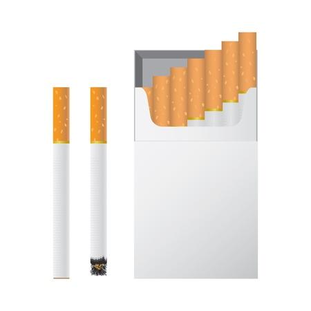 butt: Vector illustration of cigarettes