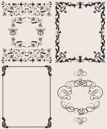scrollwork: floral background