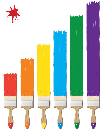 descriptive colors: paint and brushes