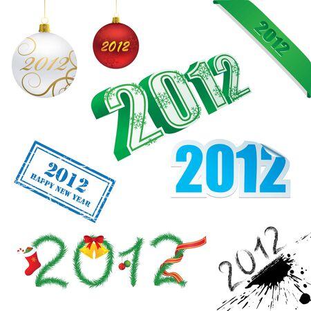 ilustración de Año Nuevo Foto de archivo - 12303594