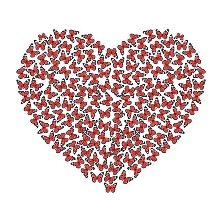 illustration of the heart of butterflies Stock Vector - 12303608