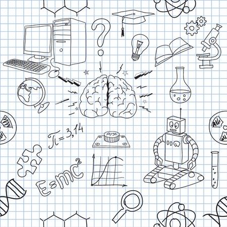 cogs: illustrazione delle icone sul tema della scienza