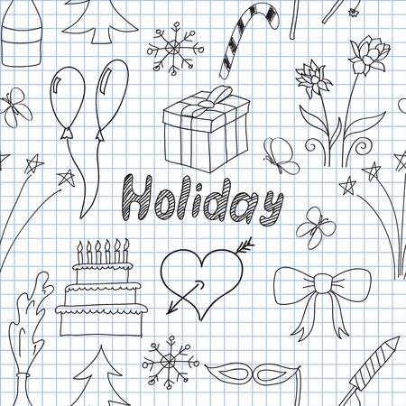 illustration of holiday symbols Stock Vector - 12303465