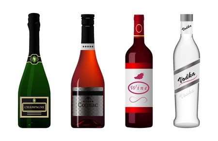 illustration of the icons of the alcohol Vector