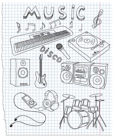 illustration on music Vector
