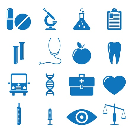 pharmaceuticals: illustration of icons on medicine