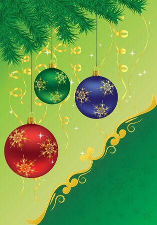 illustration Christmas background Stock Vector - 12303578