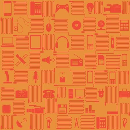illustration on electronics Stock Vector - 12303534