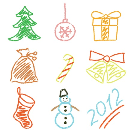 illustration of Christmas icons Stock Vector - 12303583
