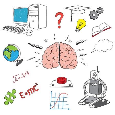 Ilustración del cerebro Foto de archivo - 12303532