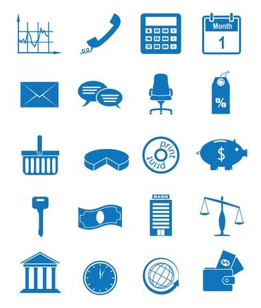 Vector illustratie pictogrammen op de economie Stock Illustratie