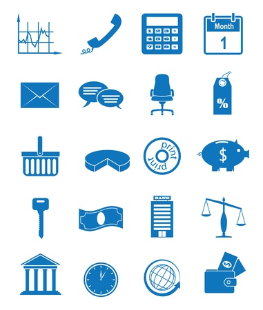Vector illustration icons on the economy