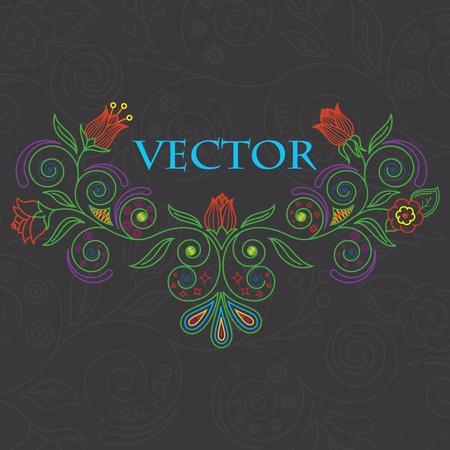 green plants: Vector illustration of floral background