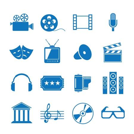 Iconos vectoriales ilustración de la película Foto de archivo - 12792937